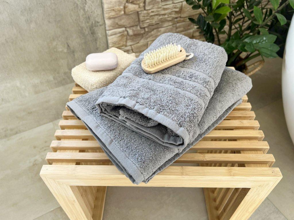Froté uterák HOTEL 500g - Svetlo sivá 50x100