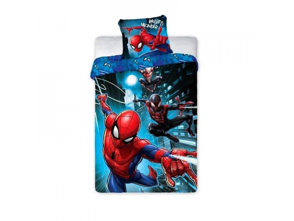 fa 016984 faro povleceni spiderman noc bavlna 140 200 70 90 cm