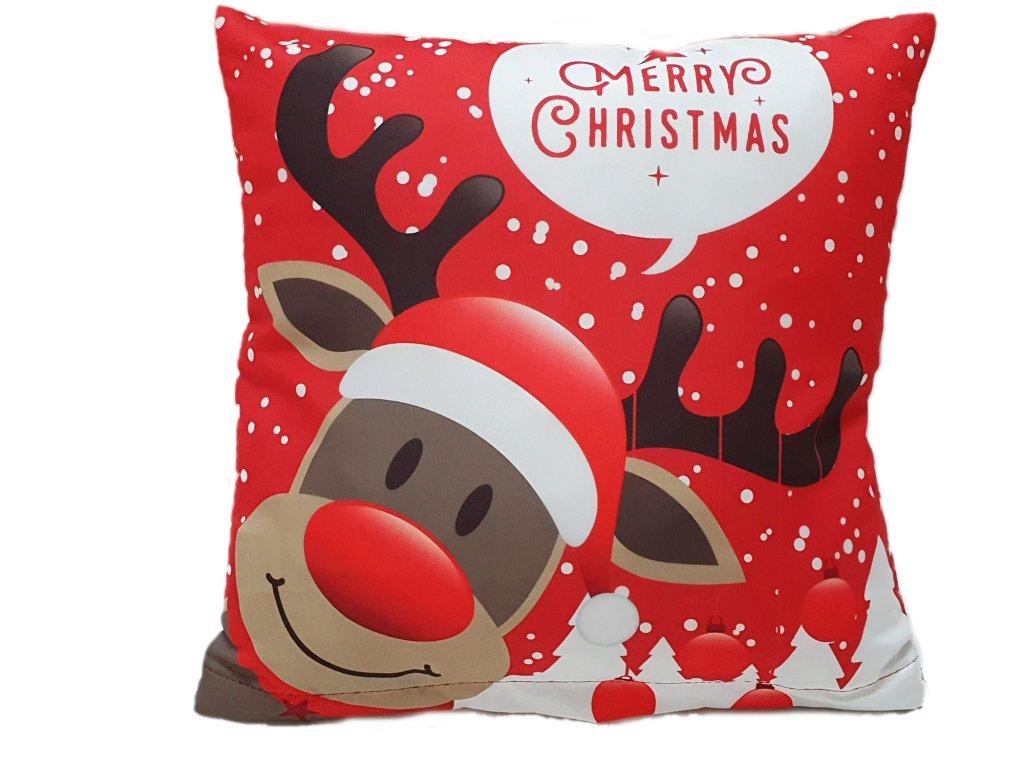 Vankúšik - Vianočný Sob Rudolf - 40x40