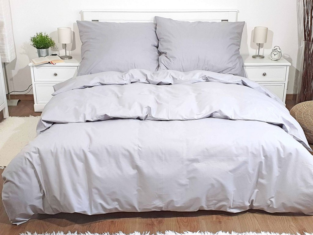 Bavlnené obliečky Sivé 140x200 + 70x90