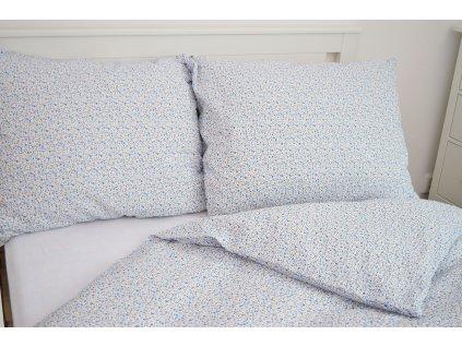 Bavlnené obliečky Kvietky m. 140x240 + 70x90