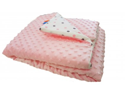 Detská deka MINKY - svetle ružová