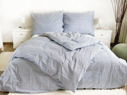 Bavlnené obliečky Pruhy m. 140x200 + 70x90
