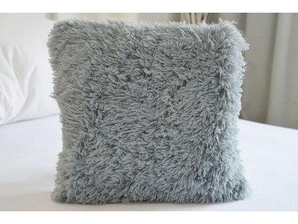 Chlpatý vankúš 40x40 - Peluto sivé
