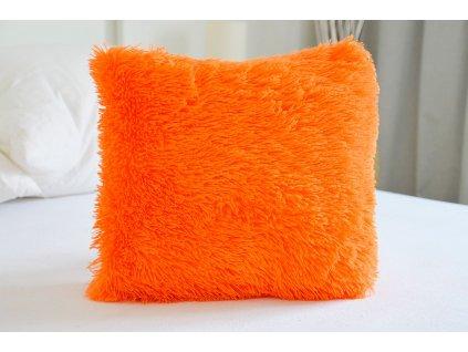 Chlpatý vankúš 40x40 - Peluto oranžový