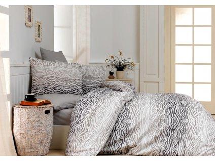 Bavlnené obliečky Ranforce 140x200 - Gravír hnedé