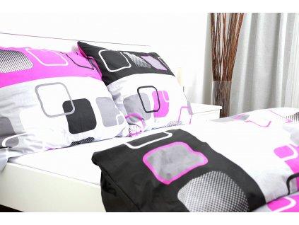 Bavlnený poťah na vankúš 40x40 - Obrazovky ružové