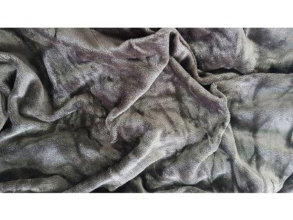 Mikroplyšová plachta 180x200  - tmavo šedá