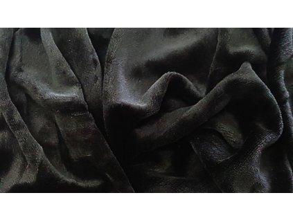 Mikroplyšová plachta 180x200 - čierna