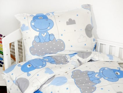 Detské obliečky - Hrošík modrý