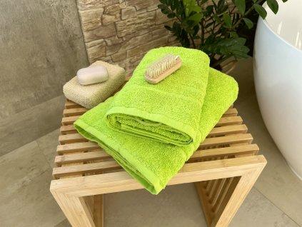 Froté uterák HOTEL 500g - Zelený pistáciový 50x100