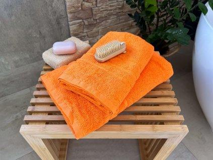 Froté osuška HOTEL 500g  - Oranžová 70x140