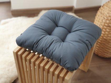 Vankúš na stoličku - Tmavo šedý