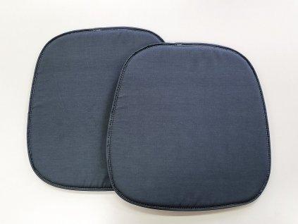 Vankúš na stoličku 39x37 - Tmavo sivý