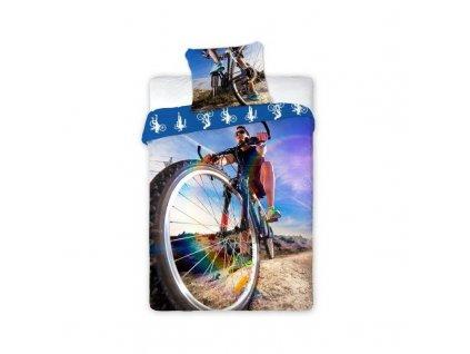 Bavlnené obliečky - Bicykel - 140x200 + 70x90