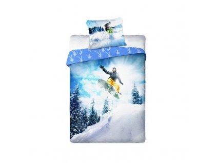 povleceni snowboardaci 140x200 70x90 100 bavlna