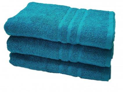 Froté osuška XL  - azurovo modrá 100x180