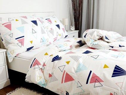 3-dielne bavlnené obliečky - Trojuholníky