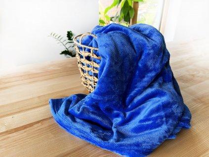 Mikroplyšová deka - modrá