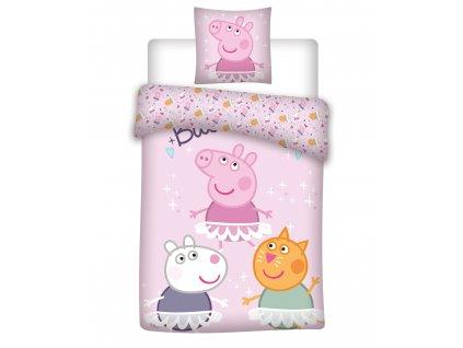 Bavlnene obliečky detské 100x135 + 40x60 - Prasátko Peppa