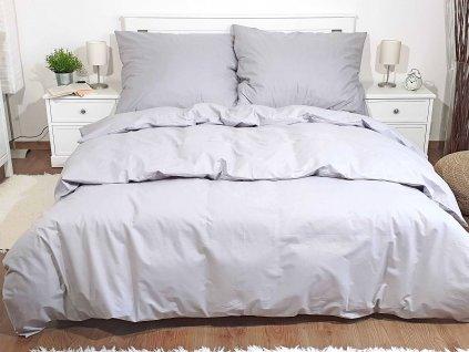 Bavlnené obliečky Sivé 140x220 + 70x90