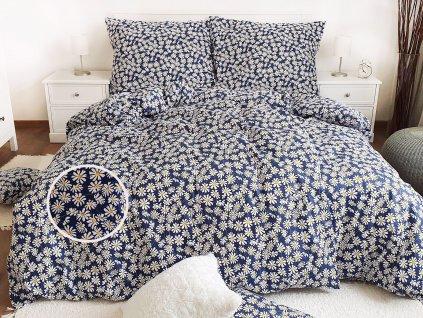 Bavlnené obliečky Margaréty modré 140x240 + 70x90