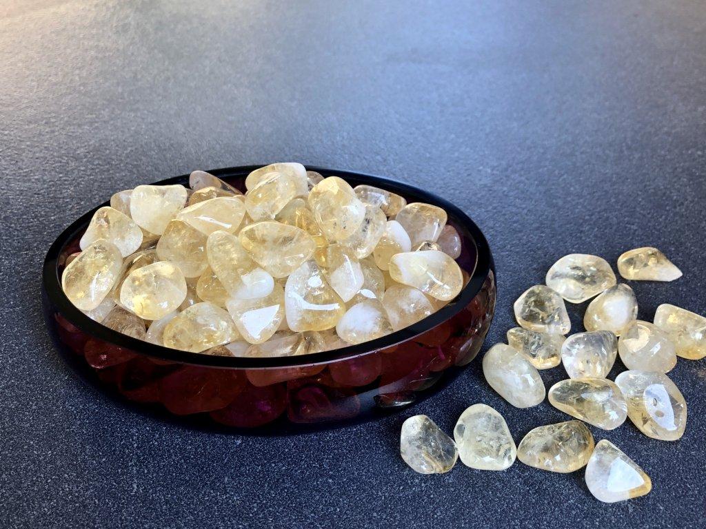 tromly z minerálů, citrín troml