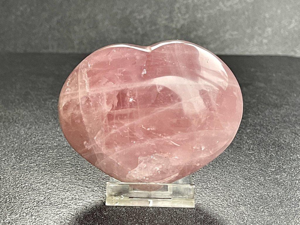 srdce z minerálů, růženín srdce
