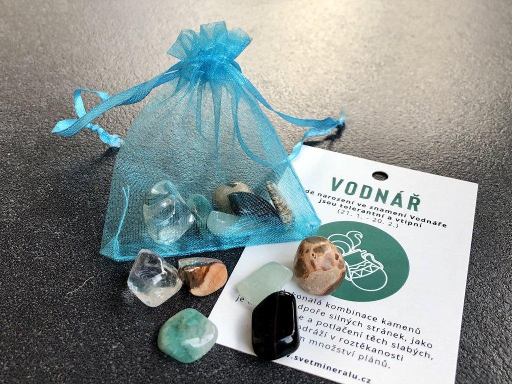 balíček minerálů pro znamení vodnář