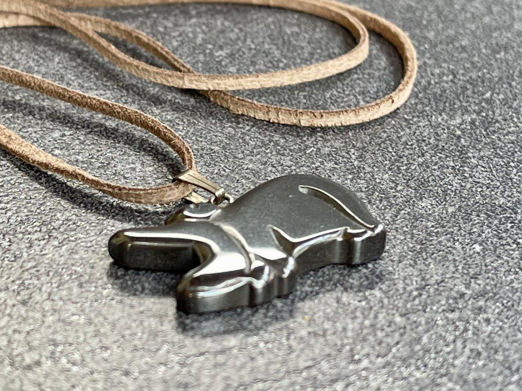 hematit křížek, přívěsek