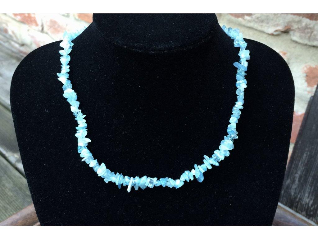 akvamarín náhrdelník