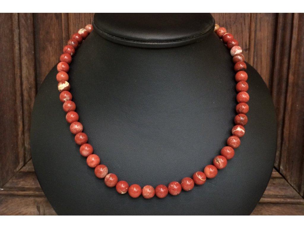 náhrdelníky z minerálů, jaspis červený náhrdelník