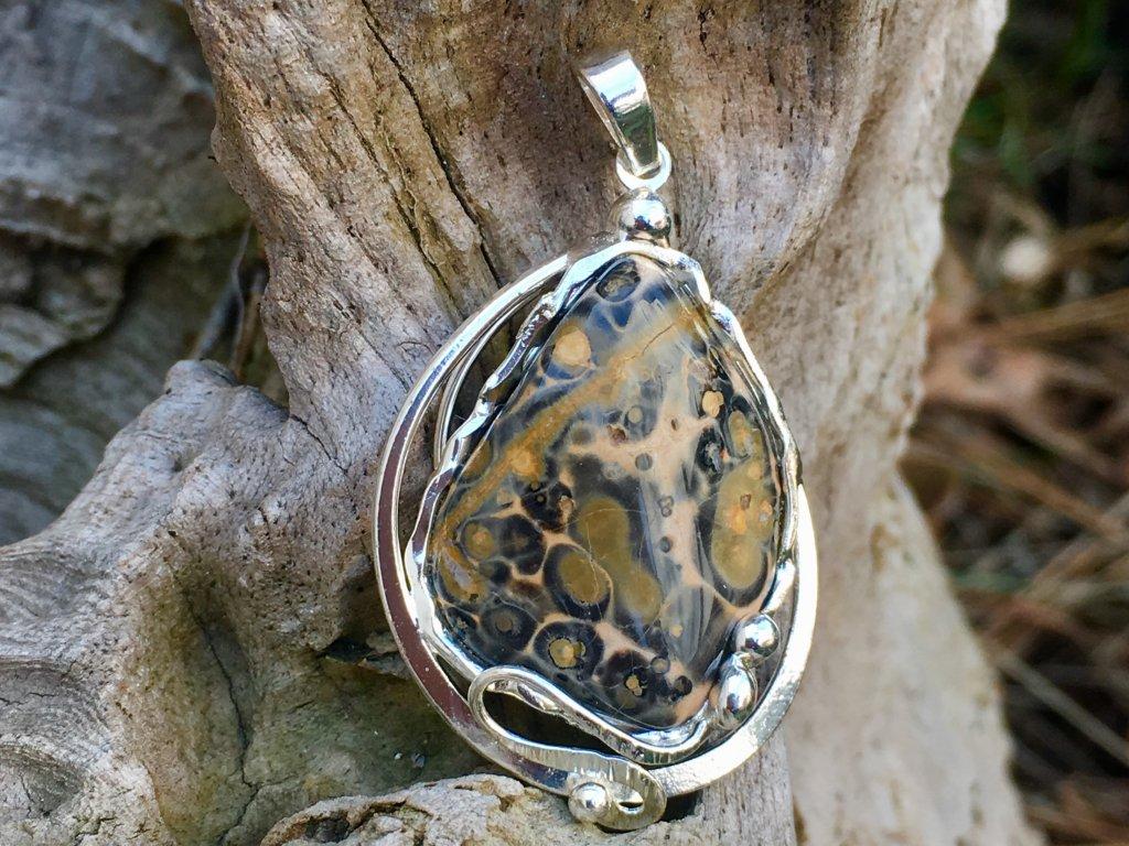 jaspis leopardit přívěsek