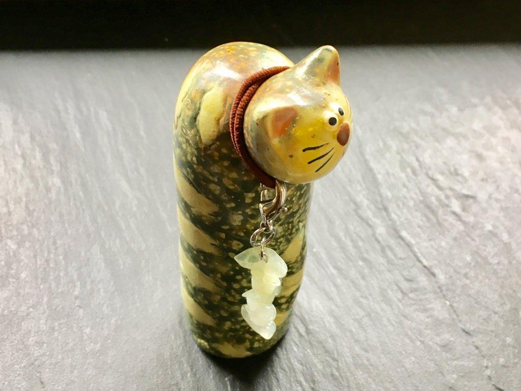 přívěsek pro zvířátka jadeit
