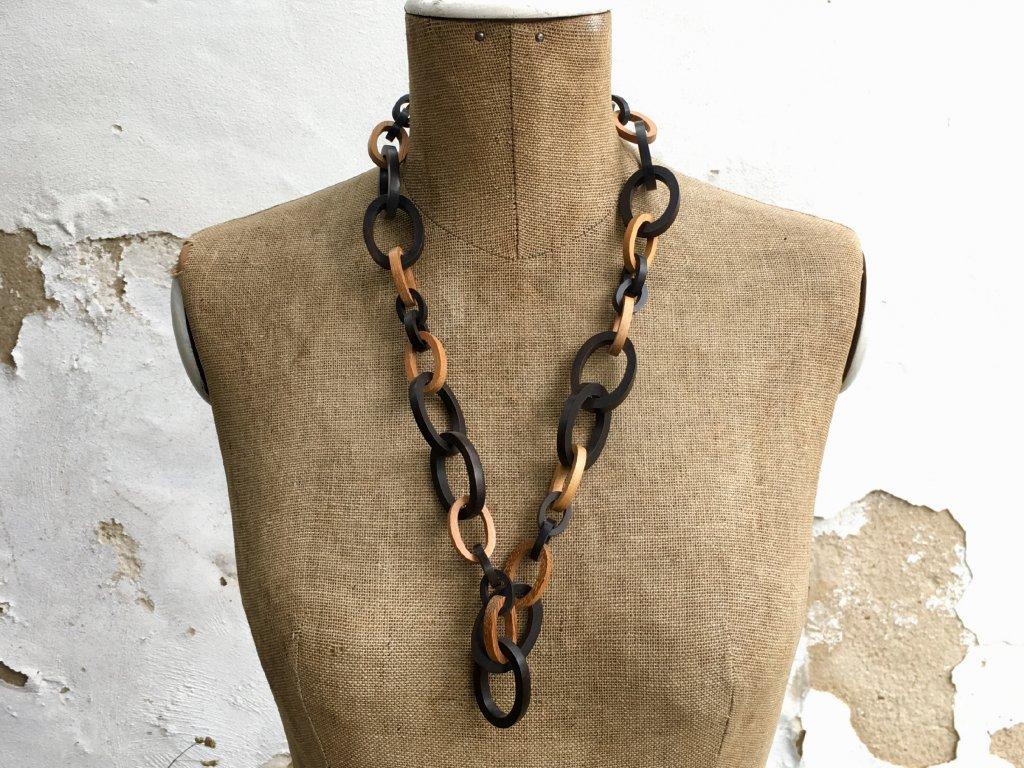 da1793563 ebenové dřevo náhrdelník · ebenové dřevo náhrdelník ...
