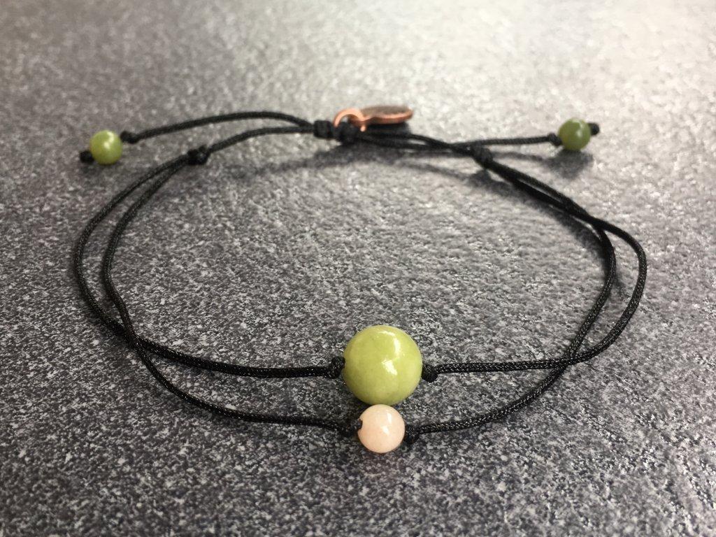 náramek pro znamení RAK jadeit, měsíční kámen