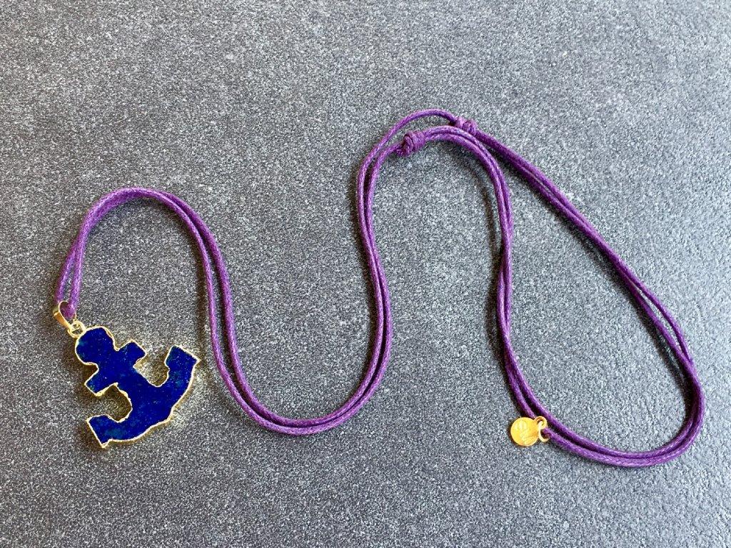 náhrdelník KOTVA lapis lazuli