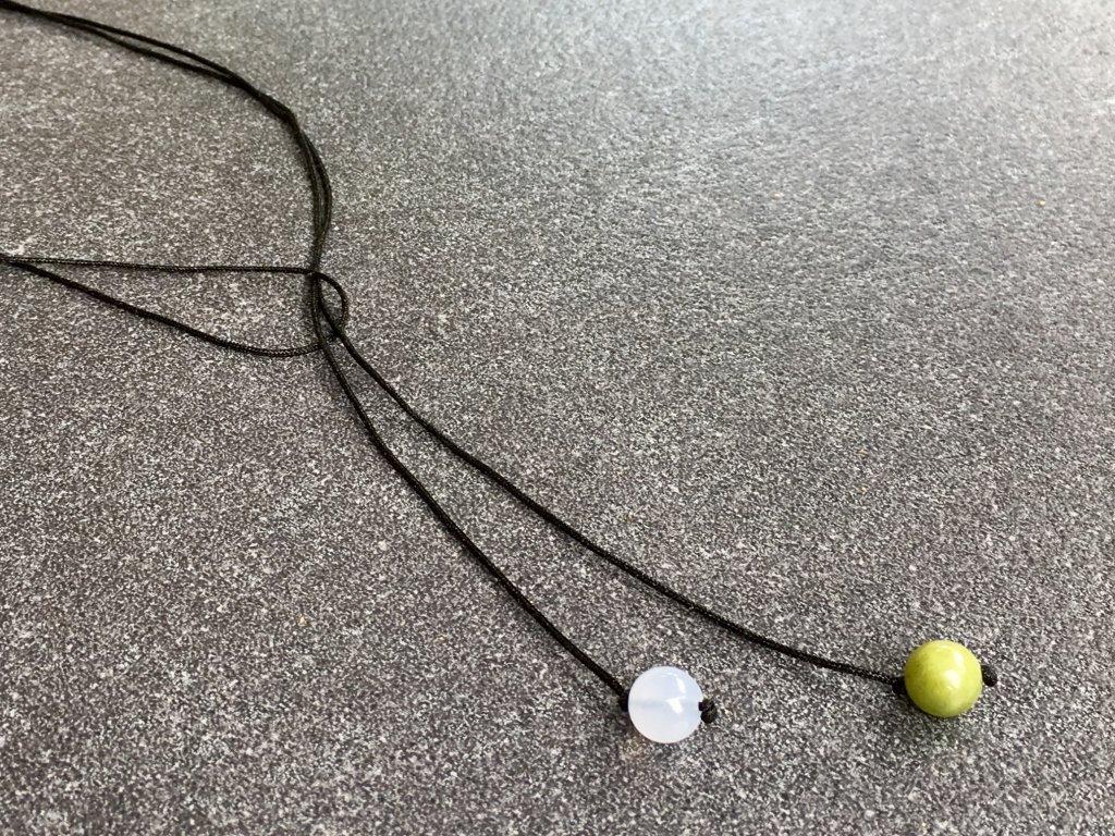 náhrdelník pro znamení RAK jadeit, chalcedon
