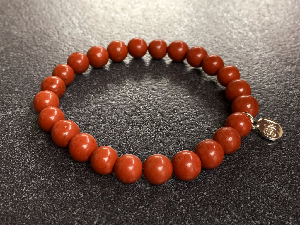 náramky z minerálů, jaspis červený náramek