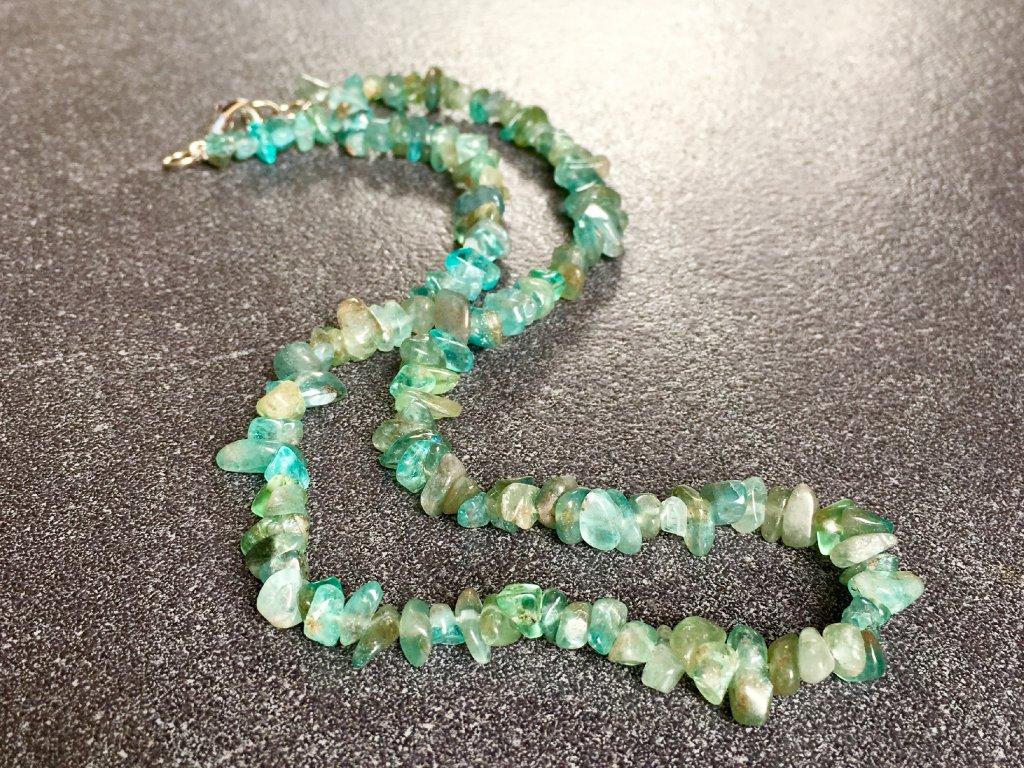 náhrdelníky z minerálů, apatit zelený náhrdelník