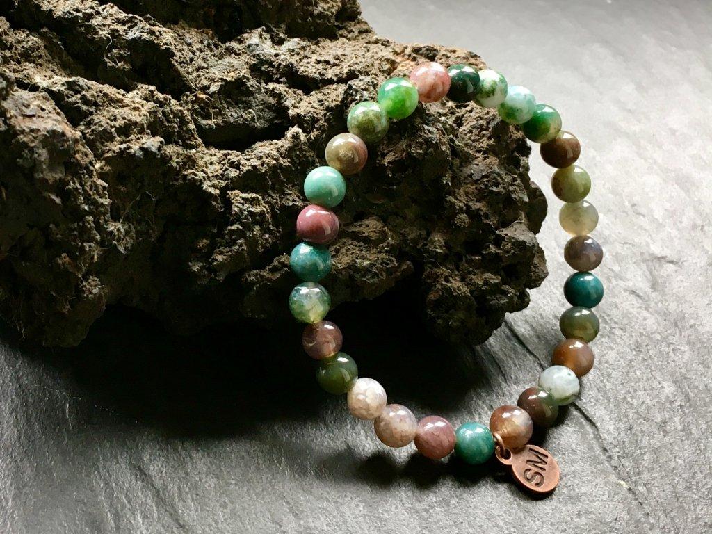 náramky z minerálů, achát pestrý náramek
