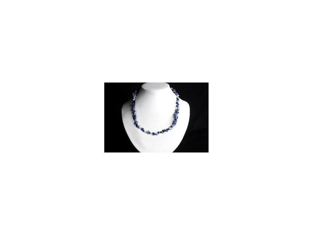 Sodalit náhrdelník sekaný - 45 cm