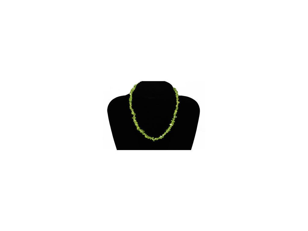 Olivín náhrdelník 45 cm