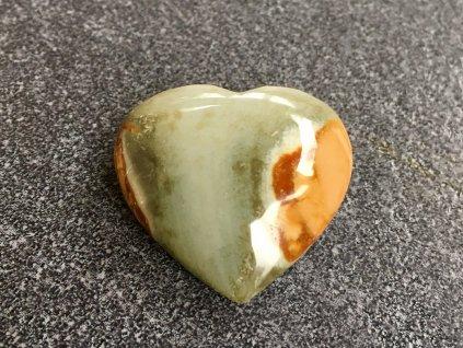 jaspis polychromní srdce