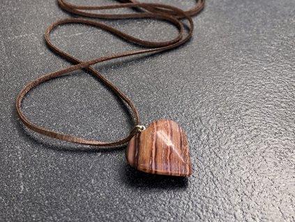 přívěsky z minerálů, jaspis srdce přívěsek