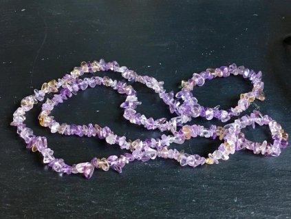náhrdelníky z minerálů, ametrín náhrdelník