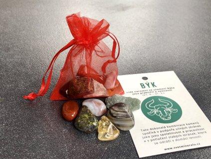 Balíček minerálů pro znamení Býk