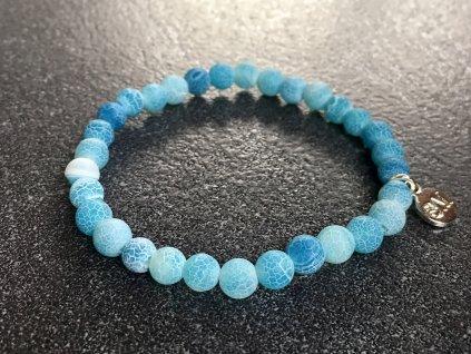 náramky z minerálů, achát modrý praskaný