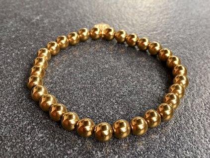 hematit zlatý náramek