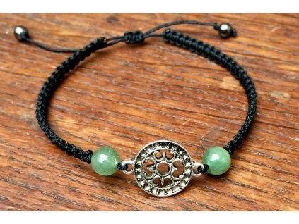 náramky z minerálů, avanturín zelený náramek